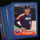 1986 FLEER ASTROS TEAM SET RYAN NMMT-MT
