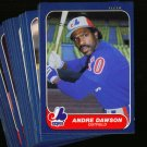 1986 FLEER EXPOS TEAM SET RAINES DAWSON NMMT-MT