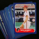 1986 FLEER PHILLIES TEAM SET CARLTON SCHMIDT NMMT-MT