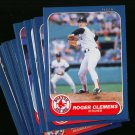 1986 FLEER RED SOX BOGGS CLEMENS TEAM SET NMMT-MT