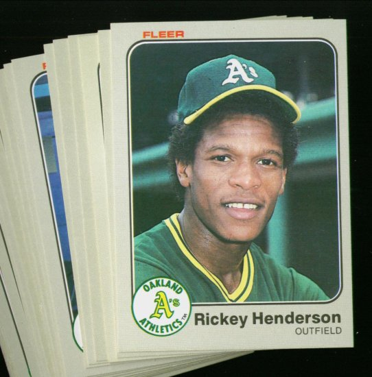 1983 FLEER A'S TEAM SET HENDERSON NMMT-MT
