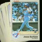 1983 FLEER BLUE JAYS TEAM SET NMMT-MT