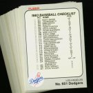 1983 FLEER DODGERS TEAM SET NMMT-MT