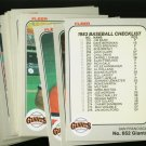1983 FLEER GIANTS TEAM SET  NMMT-MT
