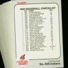 1983 FLEER INDIANS TEAM SET  NMMT-MT