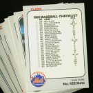 1983 FLEER METS TEAM SET KINGMAN  NMMT-MT