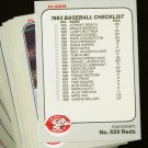 1983 FLEER REDS TEAM SET BENCH SEAVER NMMT-MT