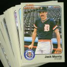 1983 FLEER TIGERS TEAM SET TRAMMELL NMMT-MT