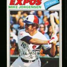 1977 O PEE CHEE #9 MIKE JORGENSEN EXPOS NM-MT OPC