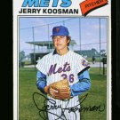 1977 O PEE CHEE #26 JERRY KOOSMAN METS NM OPC