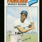 1977 O PEE CHEE #69 MICKEY RIVERS YANKEES NM-MT OPC