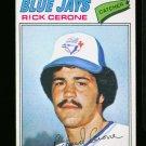 1977 O PEE CHEE #76 RICK CERONE BLUE JAYS EX OPC