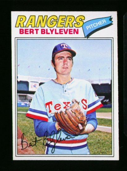 1977 O PEE CHEE #101 BERT BLYLEVEN RANGERS NM OPC