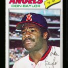 1977 O PEE CHEE #133 DON BAYLOR ANGELS EX-MT OPC