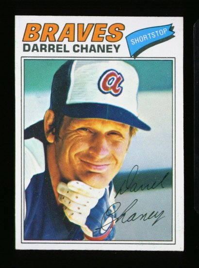 1977 O PEE CHEE #134 DARREL CHANEY BRAVES NM OPC