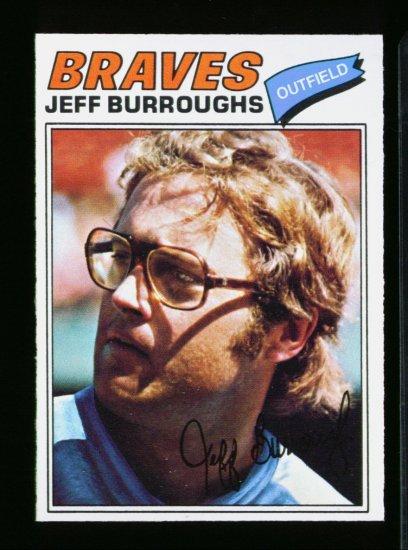 1977 O PEE CHEE  #209 JEFF BURROUGHS BRAVES NM-MT OPC
