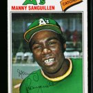 1977 O PEE CHEE  #231 MANNY SANGUILLEN A'S NM OPC