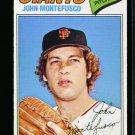 1977 O PEE CHEE  #232 JOHN MONTEFUSCO GIANTS NM OPC