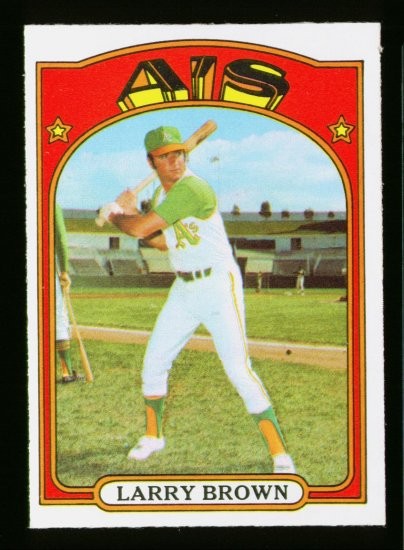 1972 O PEE CHEE #279 LARRY BROWN A'S NM-MT OPC PACKFRESH