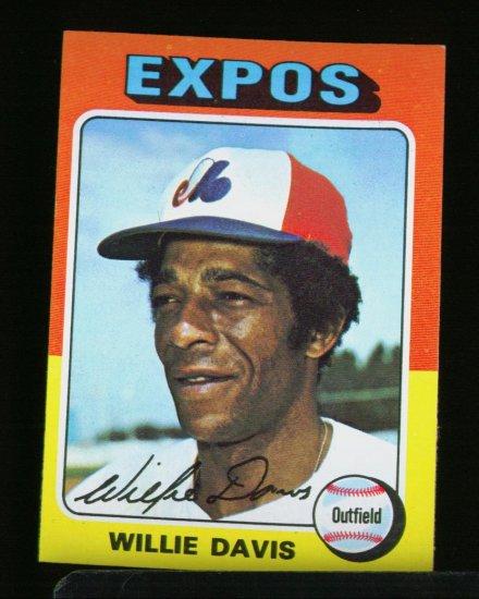 1975 TOPPS MINI #10 WILLIE DAVIS-EXPOS NM