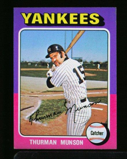 1975 TOPPS MINI #20 THURMAN MUNSON YANKEES NM