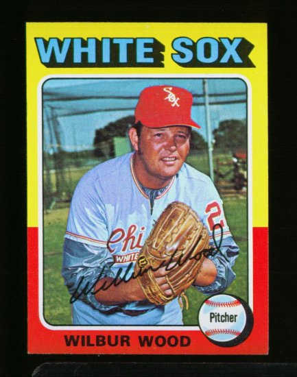 1975 TOPPS MINI #110 WILBUR WOOD WHITE SOX NM