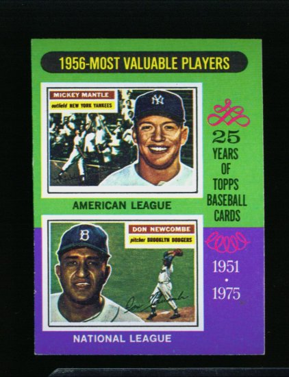 1975 TOPPS MINI #194 MVP'S MICKEY MANTLE YANKEES NM