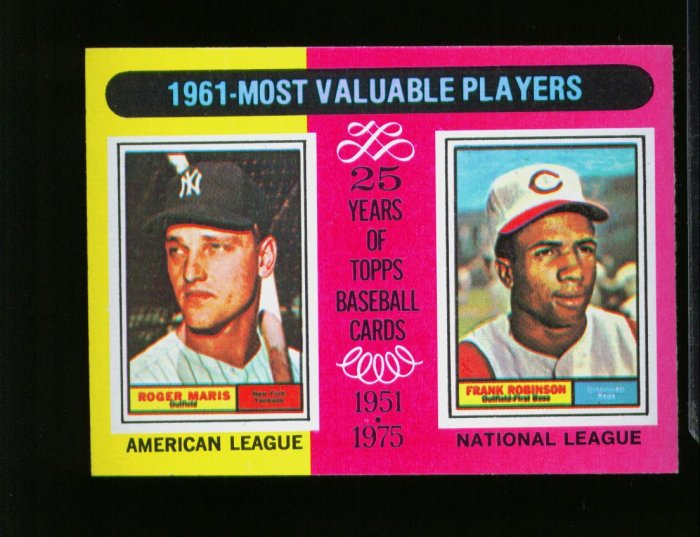 1975 TOPPS MINI #199 MARIS YANKEES AND ROBINSON NM-MT