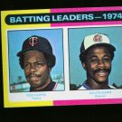 1975 TOPPS MINI #306 LDRS GARR AND CAREW TWINS NM