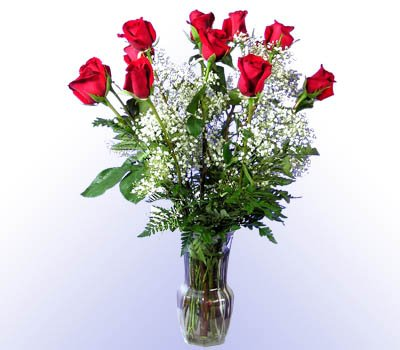 1 Dozen Red Roses with Vase