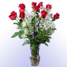 1 Dozen Red Roses with Vase
