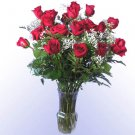 18 Red Rose Bouquet with Vase