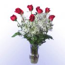 9 Red Rose Bouquet with Vase
