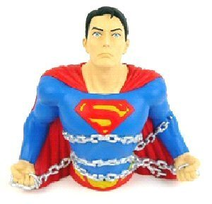 Justice League Collectible Superman Bust Bank FREE Shipping
