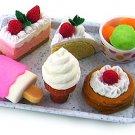 NEW Ice Cream Dessert Japanese Eraser Carded Set IWAKO FREE Shipping