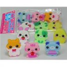 New 6 Happy Animal Scented Eraser Set Lemon Co