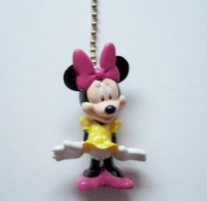 NEW Disney Minnie Mouse Figure Ceiling Fan Light Lamp Pull FREE Shipping