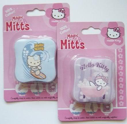 2 NEW Hello Kitty MAGIC WASHMITTS Towel Bath Set Basic Fun