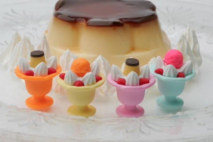 NEW 4 Japanese Ice Cream Sundae Erasers IWAKO FREE Shipping