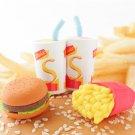 NEW 4 Japanese Fast Food Erasers IWAKO FREE Shipping