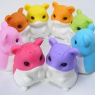 NEW 8 Colors Japanese Hamster Erasers IWAKO