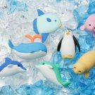 NEW 7 Packs Japanese Erasers IWAKO - Sea Life Marine Animal