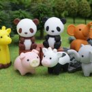 7 Pieces New 2010 Zoo Animals Japanese Eraser IWAKO
