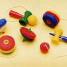NEW 6 Classic Toy Eraser Japanese IWAKO