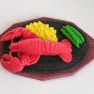 Large Lobster Dinner Plate Eraser IWAKO Japan