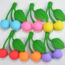 NEW Colors 6 Cherry Cherries Fruit Japanese Erasers IWAKO