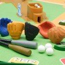 NEW 10 Piece Baseball Bat Gloves Mitts Sport Toy Japanese Eraser IWAKO