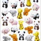 Large Sheet IWAKO Zoo Animal Kawaii Gel Stickers