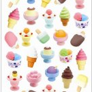 Large Sheet IWAKO Ice Cream Cake Kawaii Gel Stickers