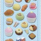 New IWAKO Japanese Eraser Puffy Raised Stickers - Bakery